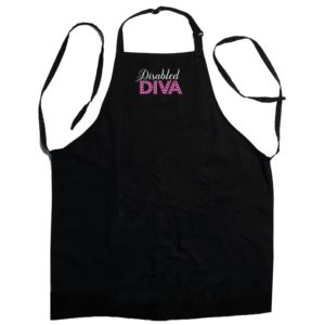Disabled Diva Black Apron